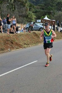 Morgan on the run at Comrades 14